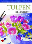 Tulpen leren aquarelleren met overtrekvellen
